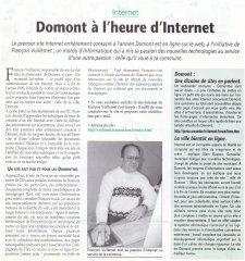 Le Domontois 2001 Le site internet