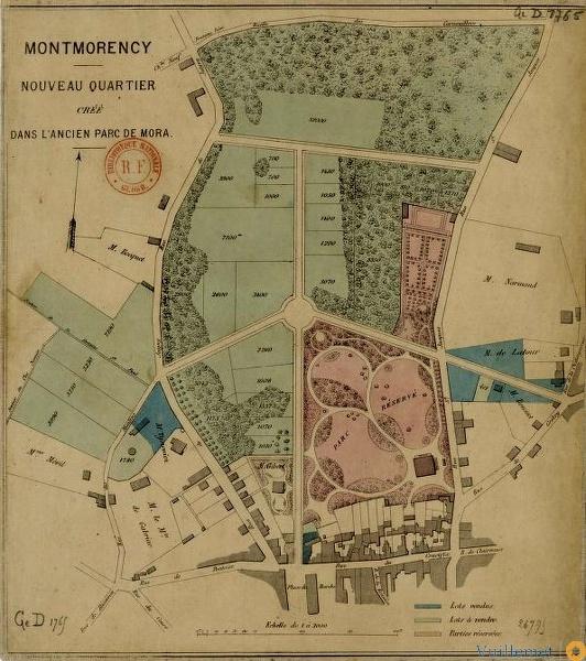 Montmorency. Nouveau quartier créé dans l'ancien parc de Mora