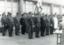 1964.Cérémonie  devant la salle des fêtes CRF